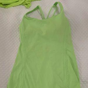 Neon lululemon tank top